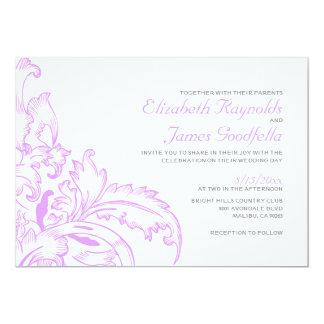 Lavender Flourish Wedding Invitations