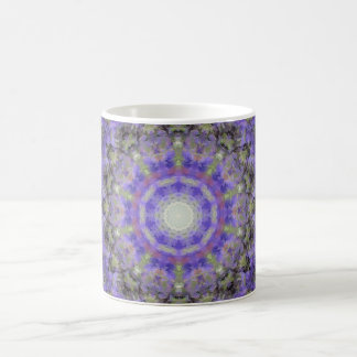 Lavender Flower Kaleidoscope Coffee Mug