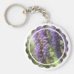Lavender Flower Keychain