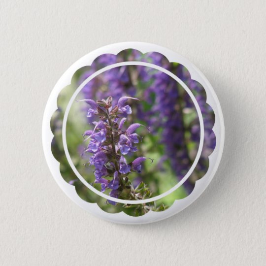 Lavender Flower Round Button