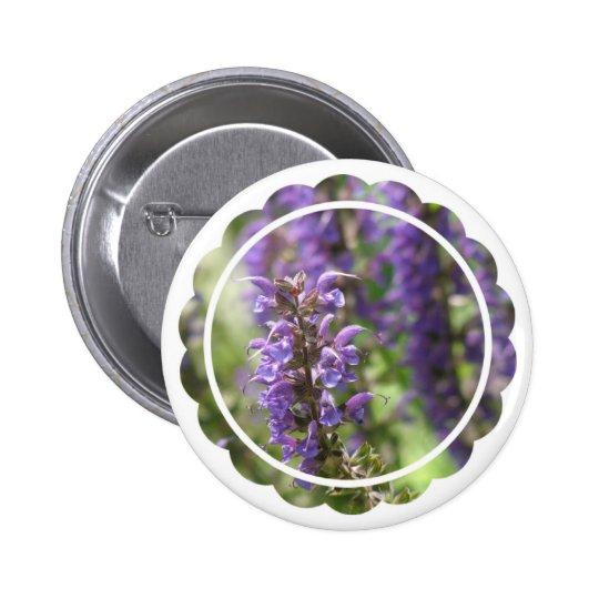 Lavender Flower Round Button