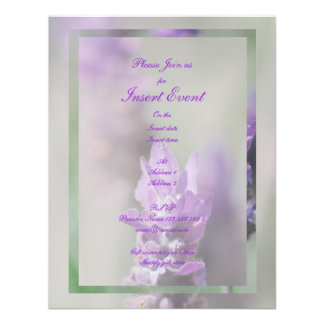 Lavender flower stylish wedding engagement announcements