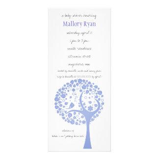 Lavender Flowering Tree Baby Shower Invitation