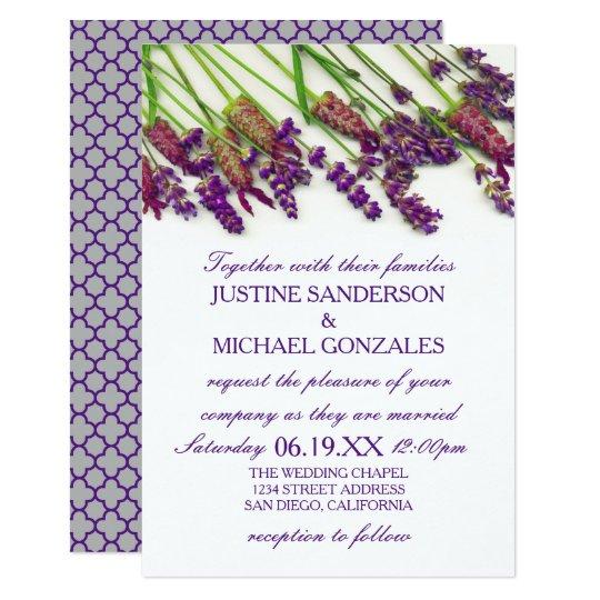 Lavender Flowers - 3X5 Wedding Invitation