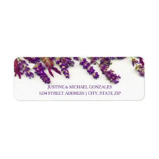 Lavender Flowers - Address Labels