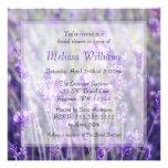 Lavender Flowers Bridal Shower Custom Invitations