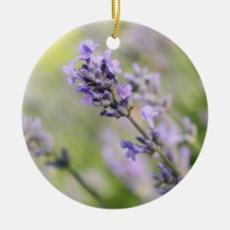 Lavender Flowers. Christmas Ornament