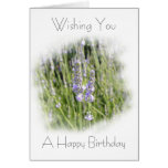 Lavender Flowers Field Birthday Card