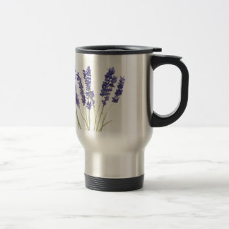 Lavender flowers french lavender travel mug