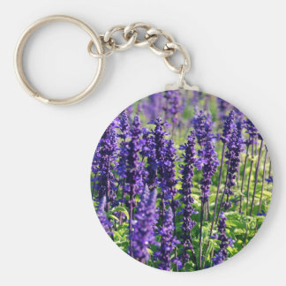 Lavender Flowers Key Ring