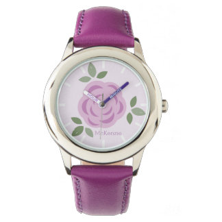 Lavender Flowers Personalized Watches