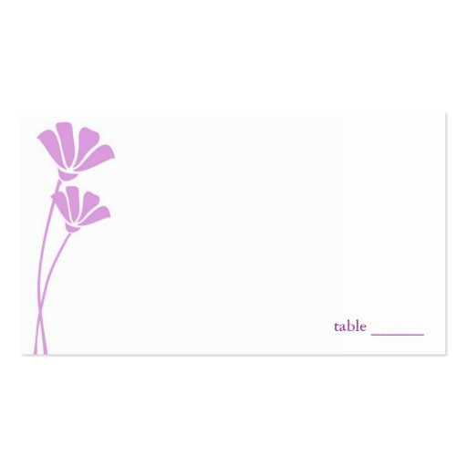 Lavender Flowers, Place Cards Business Card Templates