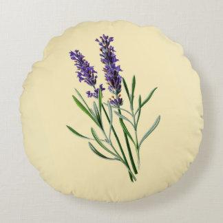 Lavender Flowers Round Cushion