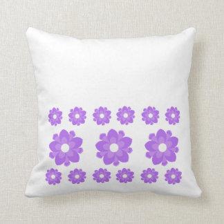Lavender Flowers Throw Pillow Throw Cushion