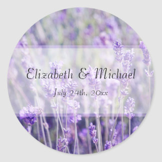 Lavender Flowers Wedding Favor Label