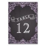 Lavender frame & chalkboard wedding table number table cards