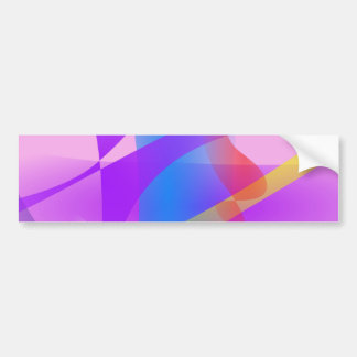 Lavender Free Forms Abstract Painting Bumper Stickers