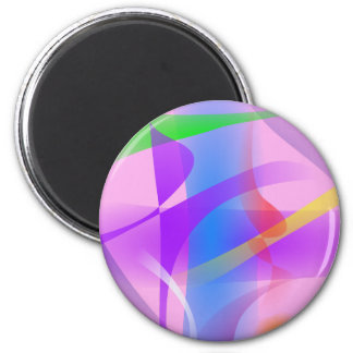 Lavender Free Forms Abstract Painting Magnet