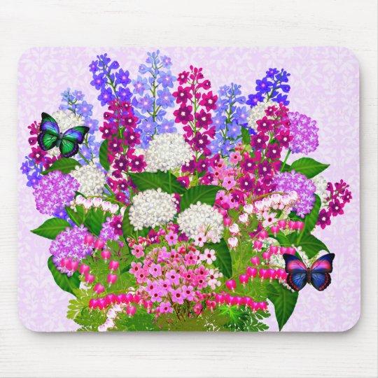 Lavender Garden Floral Bouquet Mousepad