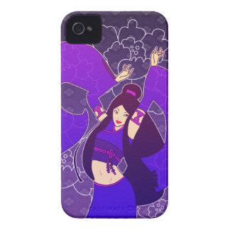 Lavender Geisha Dancer Kimono Art iPhone 4/4S Case
