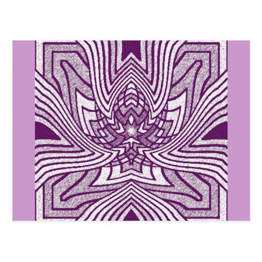 Lavender Geometric Lotus Postcard