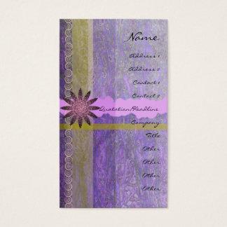 Lavender Giftwrap Vertical Profile Card