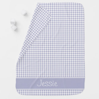 Lavender Gingham | Personalized Buggy Blanket