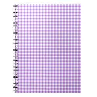 Lavender Gingham Spiral Notebook