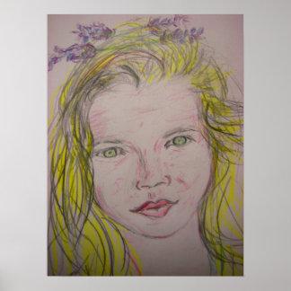 lavender girl poster