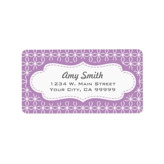 Lavender Girly Geometric Address Labels