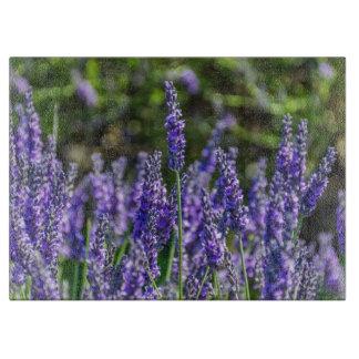 Lavender glass cutting board