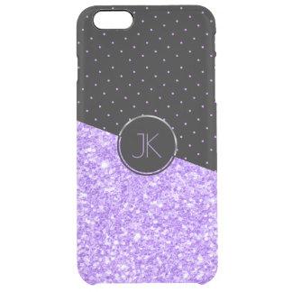Lavender Glitter & Dots Pattern Clear iPhone 6 Plus Case