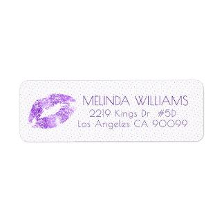 Lavender Glitter Lips & Dots pattern