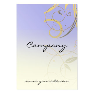 Lavender Gold Black Swirl Pack Of Chubby Business Cards