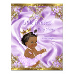 Lavender Gold Princess Baby Shower Ethnic Girl 11 Cm X 14 Cm Invitation Card