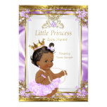 Lavender Gold White Princess Baby Shower Ethnic 13 Cm X 18 Cm Invitation Card
