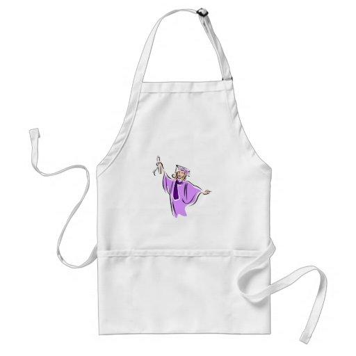 Lavender Graduate Aprons