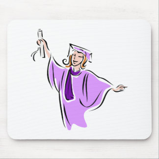 Lavender Graduate Mouse Pads