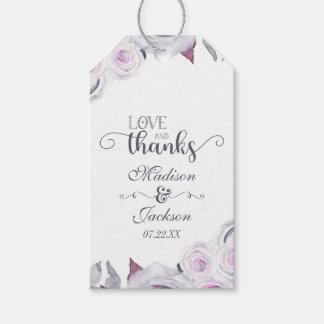 Lavender & Gray Floral Wedding Love & Thanks