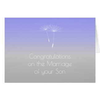 Lavender Gray Parents of Bride Congratulations Greeting Card