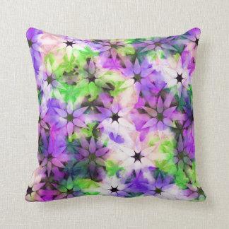 Lavender Green Garden Flower Pattern Cushion