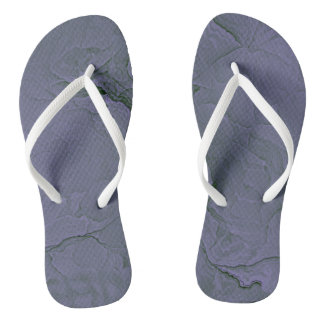 Lavender Green Textured Flip Flops
