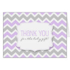 Lavender Grey Chevron Baby Shower thank you notes