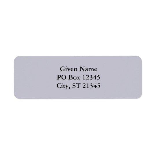 Lavender Grey Return Address Label