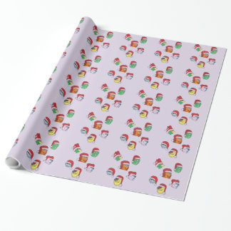 Lavender Hassle Castle Monster Christmas Gift Wrap