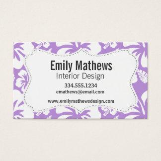 Lavender Hawaiian Tropical Hibiscus Business Card