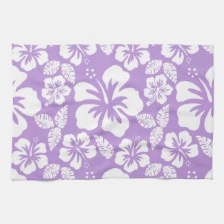Lavender Hawaiian Tropical Hibiscus Kitchen Towels