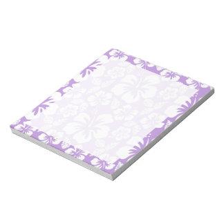 Lavender Hawaiian Tropical Hibiscus Notepad