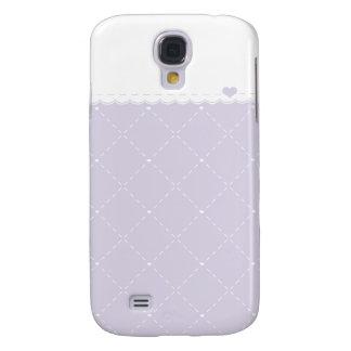 Lavender Heart Galaxy S4 Case