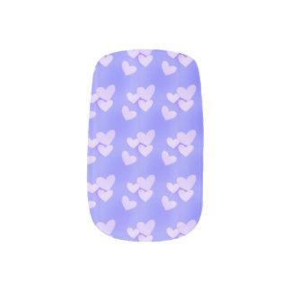 Lavender Hearts Minx Nail Art